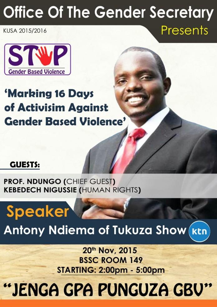 16 Days Of Activism Against Gender Based Violence