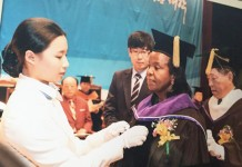 V.C Prof. Olive Mugenda is awarded Honorary Degree :Doctor of Management&Relations by Chosun University,South Korea