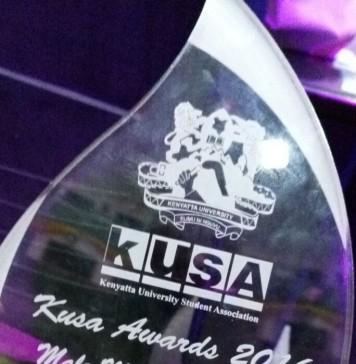 #CampusIcononKUFM Radio Presenter Amos Njeru Recieve's KUSA Award