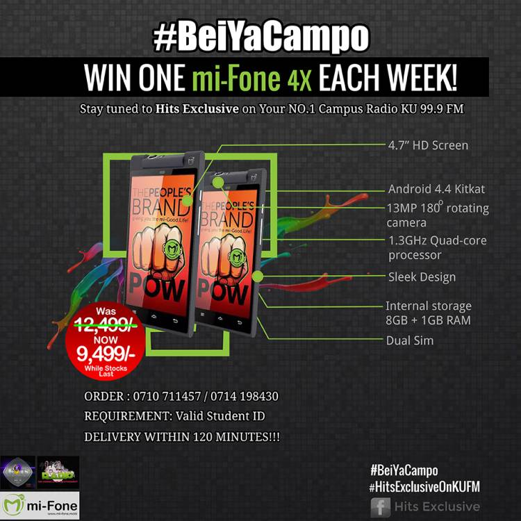 #BeiYaCampo Mi-fone Offer by #HitsExclusiveOnKUFM