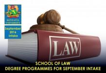 Kenyatta University September 2016 Intake Deadline