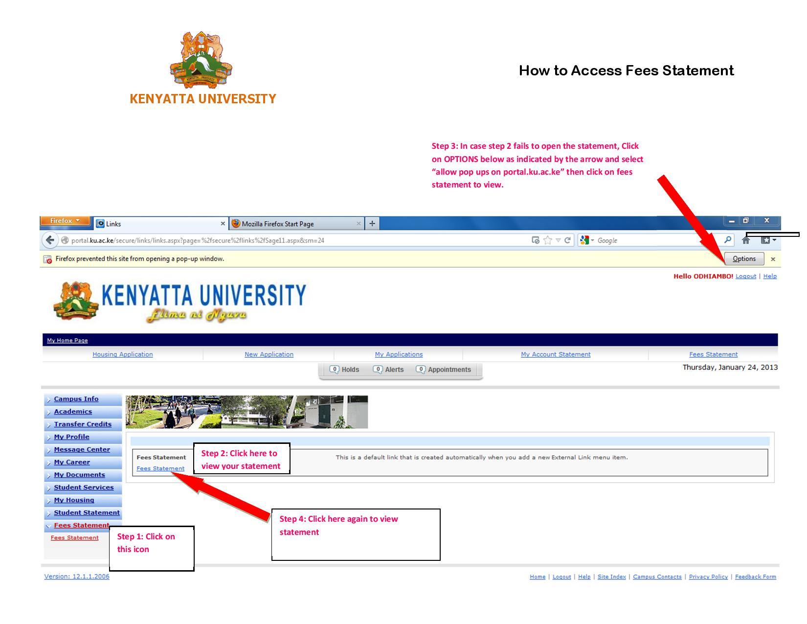 Kenyatta Uni Fees Structure Reporting Dates September