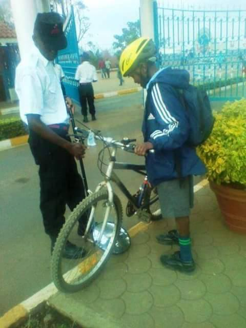 KU kenyatta University Gate Inspection
