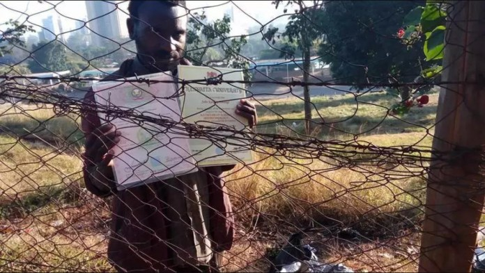 Kenyatta University Graduate Who Lives as a Beggar in The Streets Of Nairobi