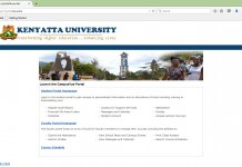 How to Register Units Online Kenyatta University Students' Portal