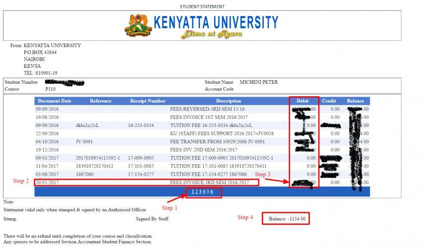 How To Check Kenyatta Uni Fee Balance Via Students Portal