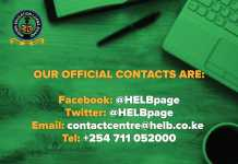 HELB Contacts: Telephone, Mobile, Email, Facebook
