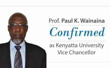 Professor Paul K. Wainaina confirmed as KU Vice Chancellor