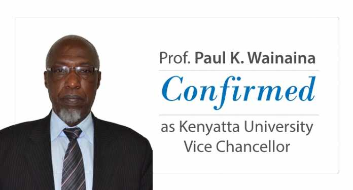 Professor Paul K. Wainaina confirmed as KU Vice Chancellor