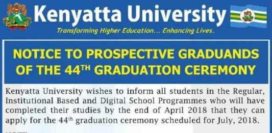 Registration For 44th Graduation Ceremony Deadline Dates