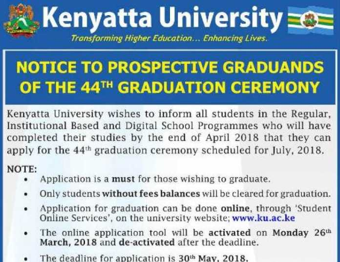 Registration For 44th Graduation Ceremony Deadline Dates