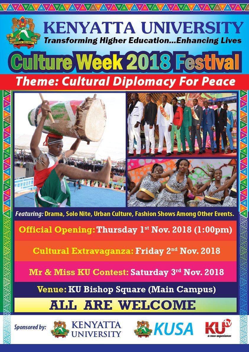 Kenyatta University Culture Week 2018 Festival Launch