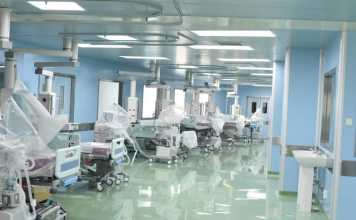 Medical equipment inside Kenyatta University Teaching and Referral Hospital