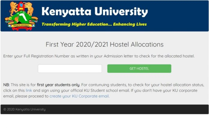 1st Year Students Hostel Rooms Allocation for the Academic Year 2020-2021